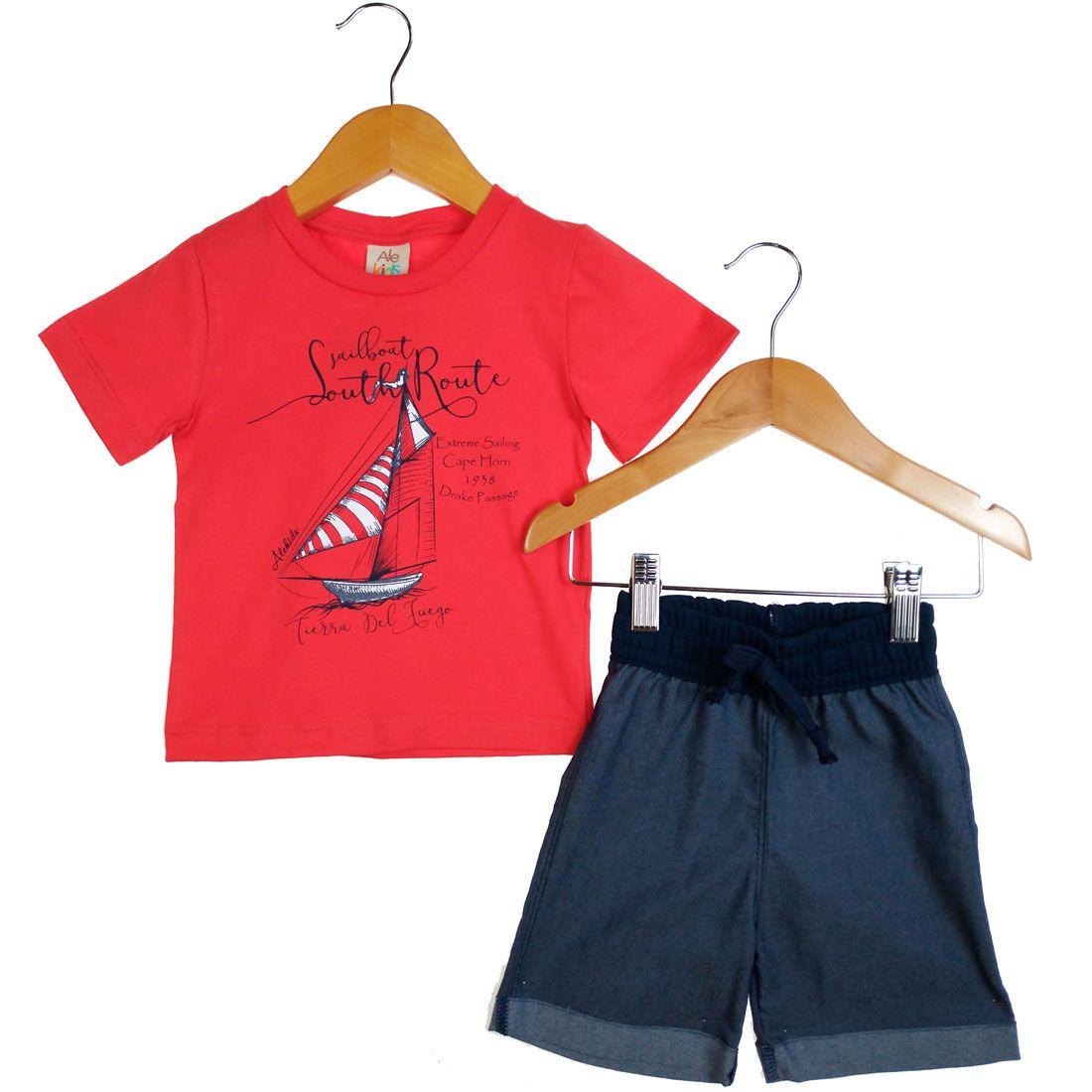 Conjunto Alekids  Camiseta Bermuda South