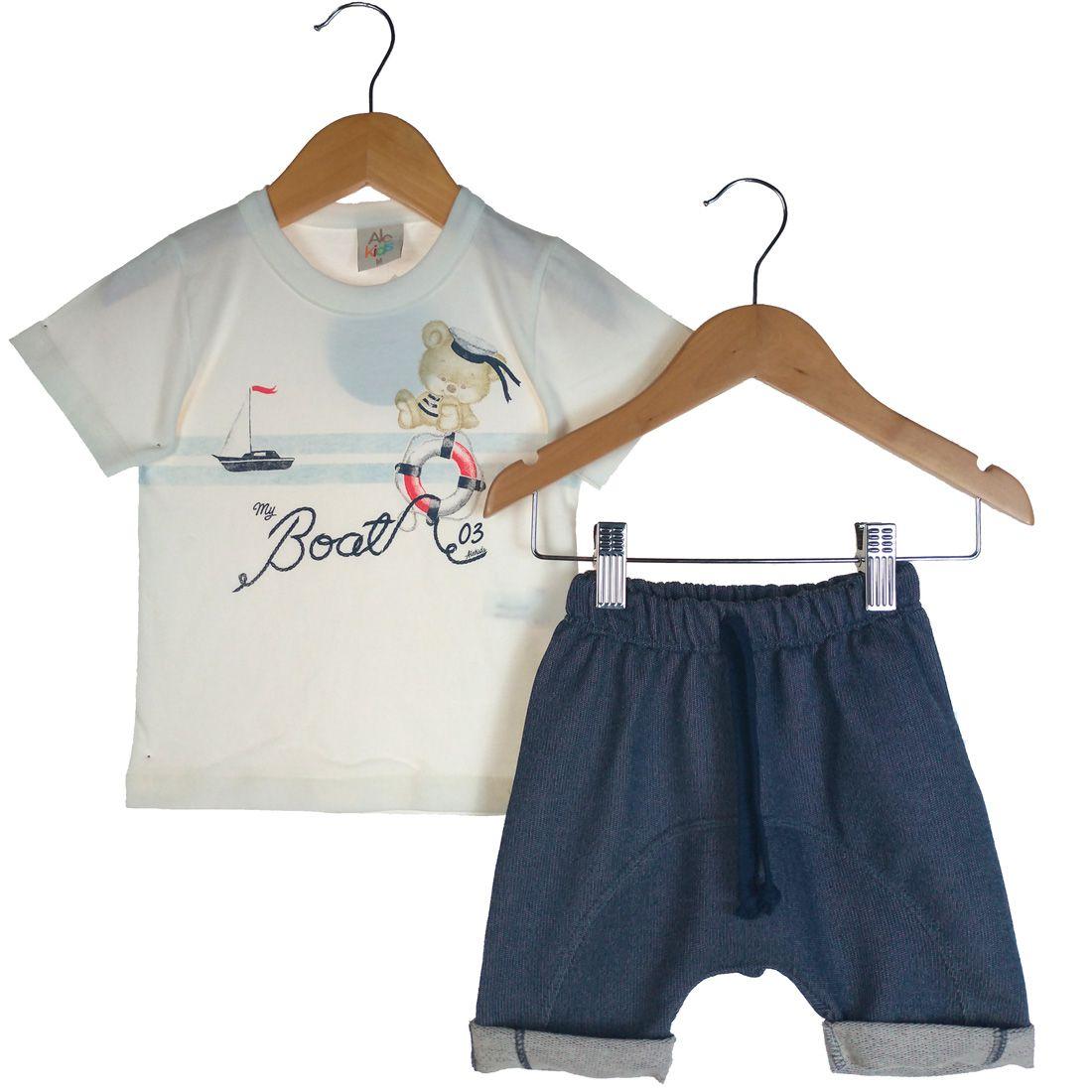 Conjunto Alekids  Camiseta e Short Saruel