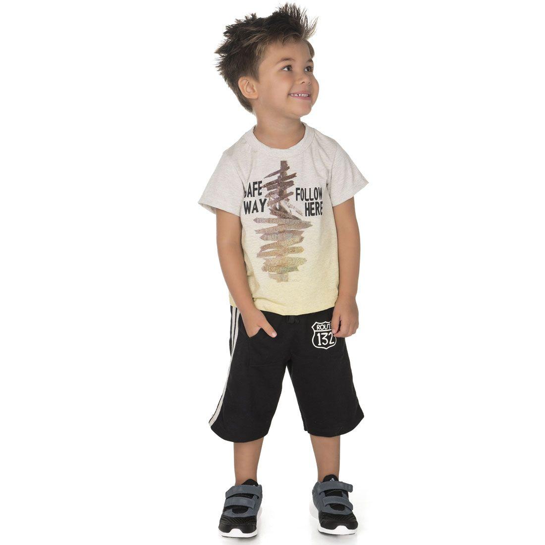 Conjunto Alekids  Regata e Camiseta Safe way