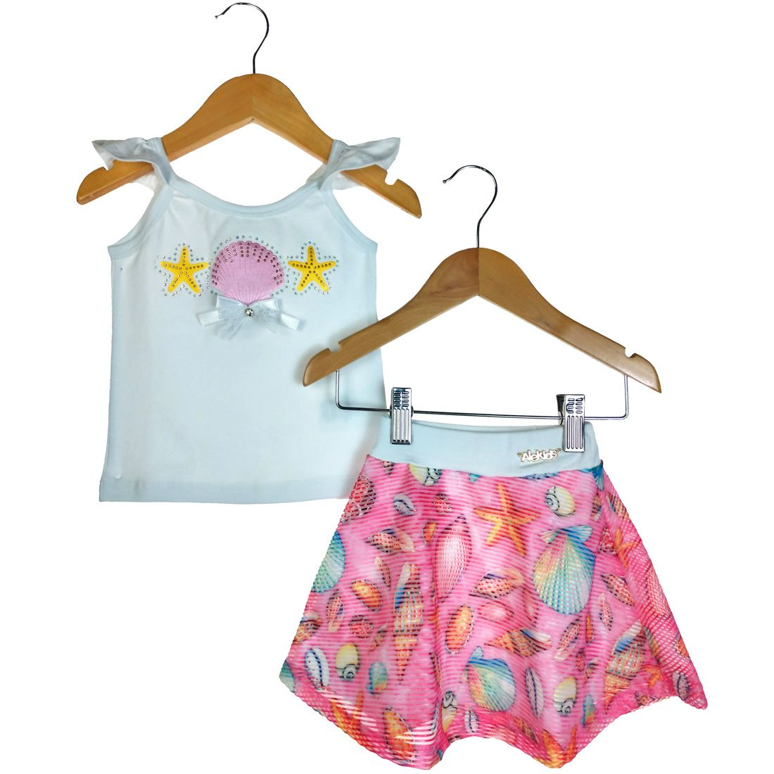 Conjunto Alekids Regata e Saia Fundo do Mar