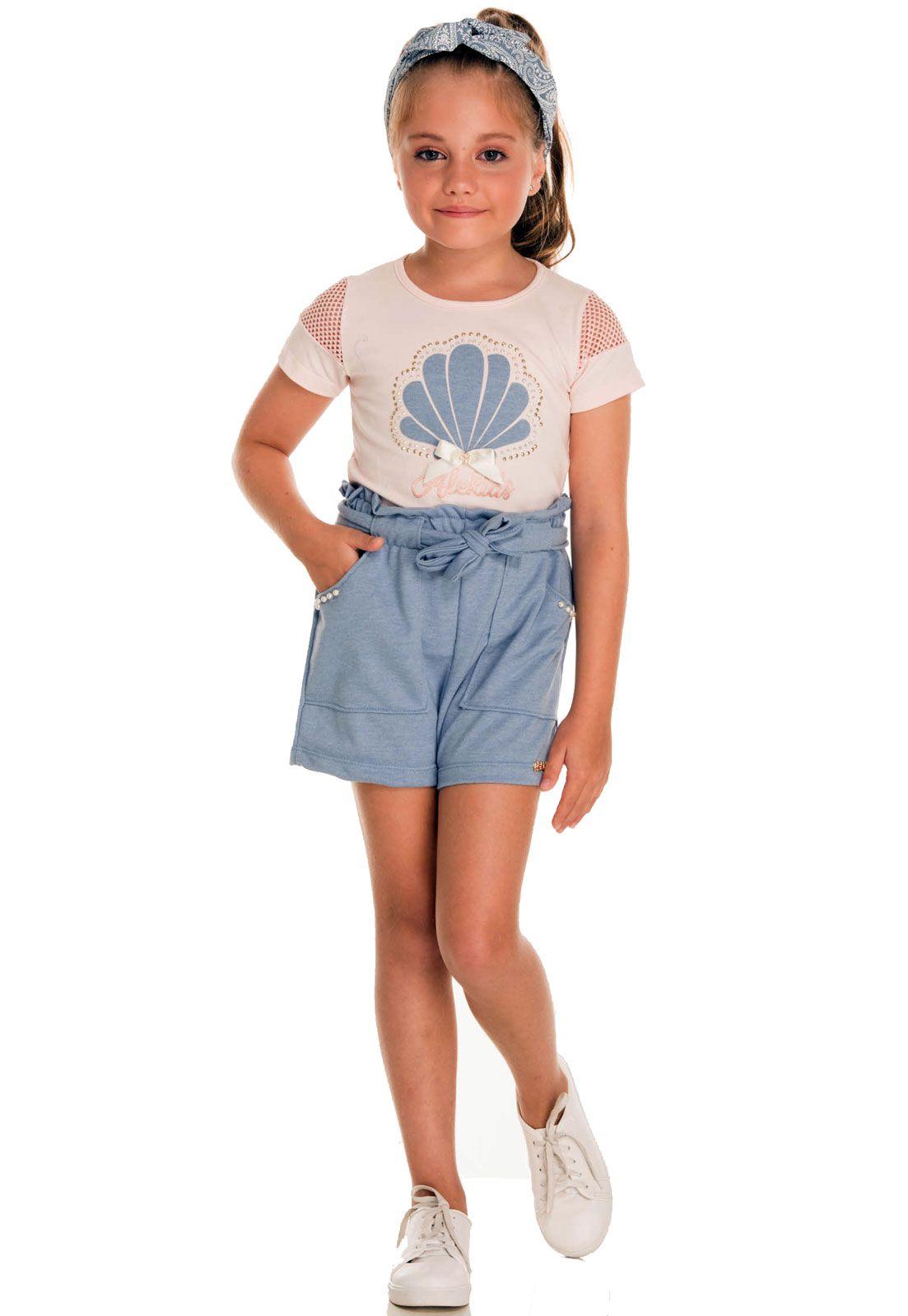Conjunto Infantil Alekids Blusa Shorts