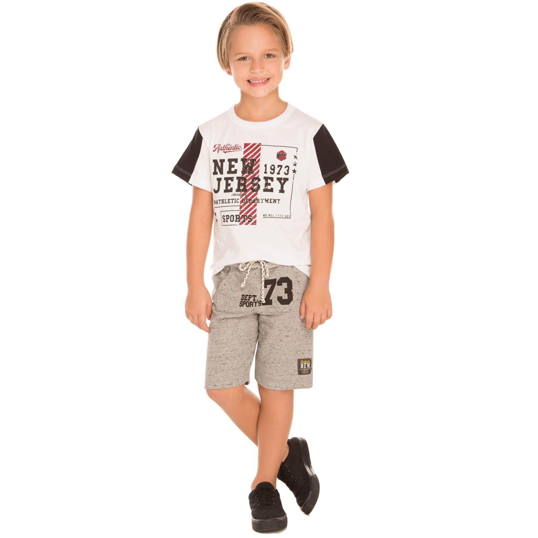 Conjunto Infantil Alekids  Camiseta Bermuda