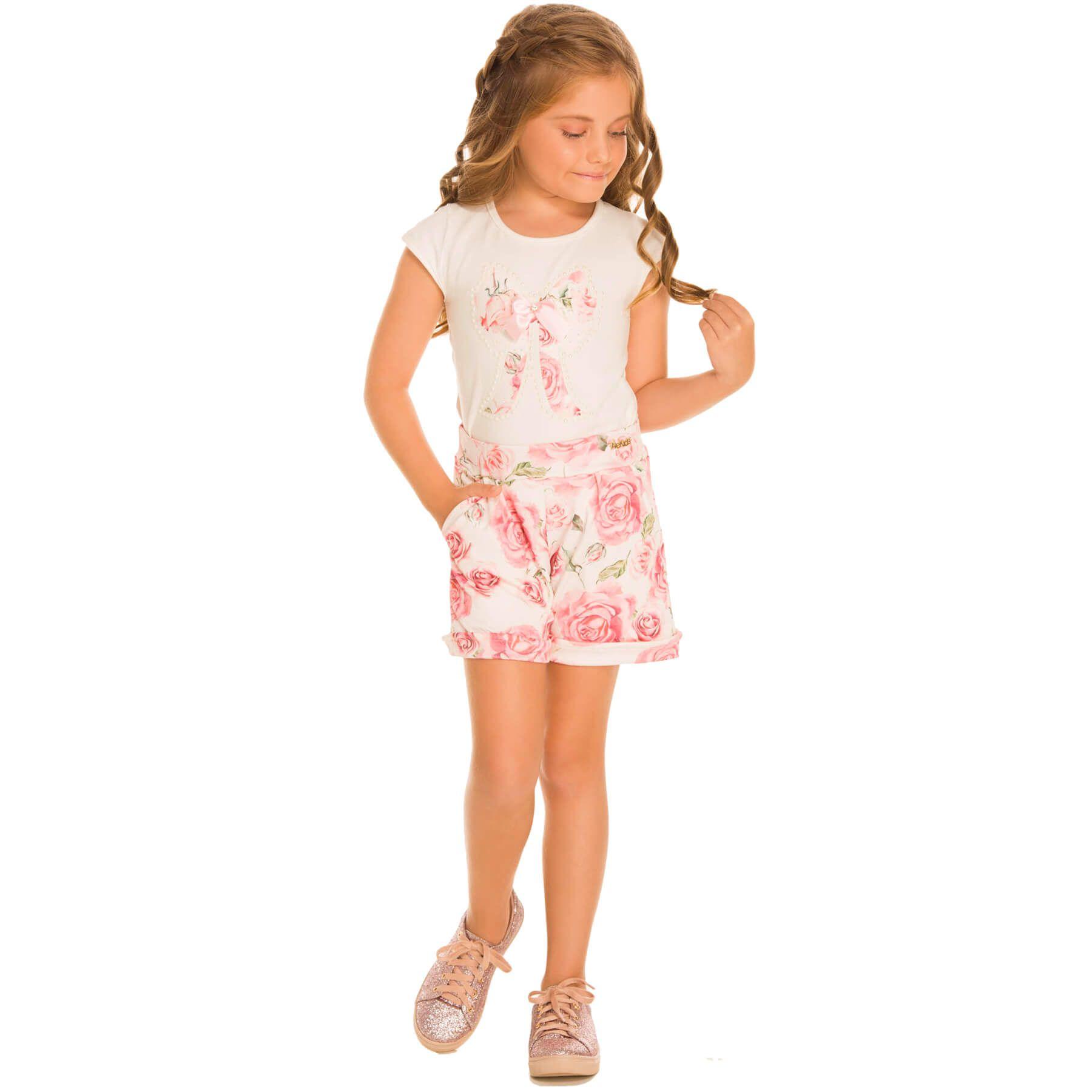 Conjunto Infantil Alekids Floral