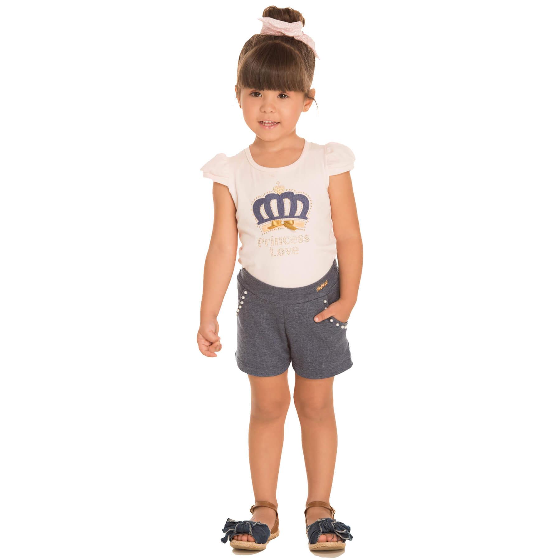 Conjunto Infantil Alekids Princess Love