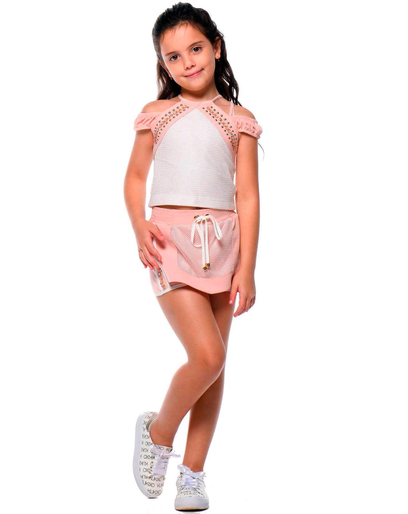 Conjunto Infantil Kukixo Blusa e Short