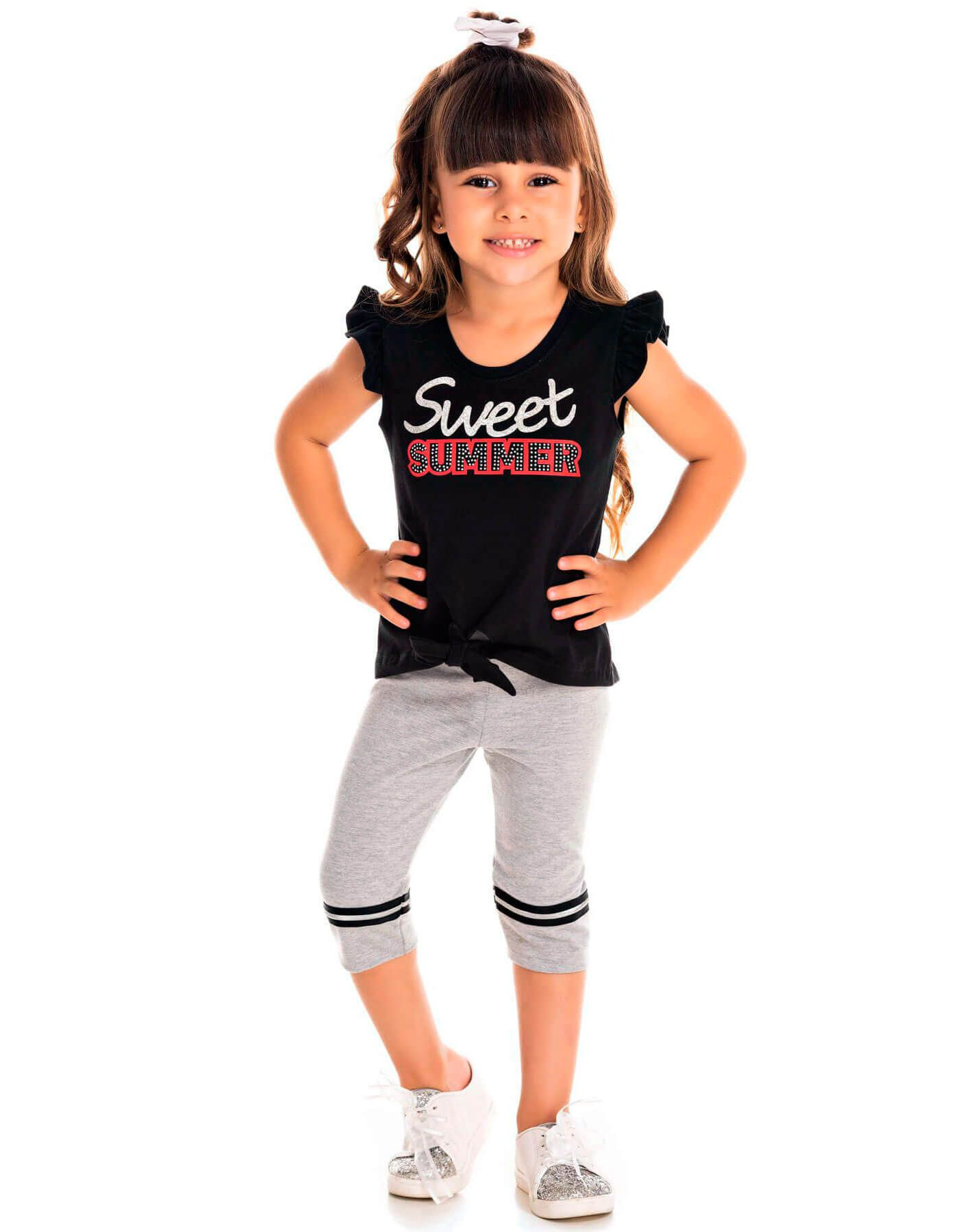 Conjunto Infantil Pic Nic Blusa e Legging