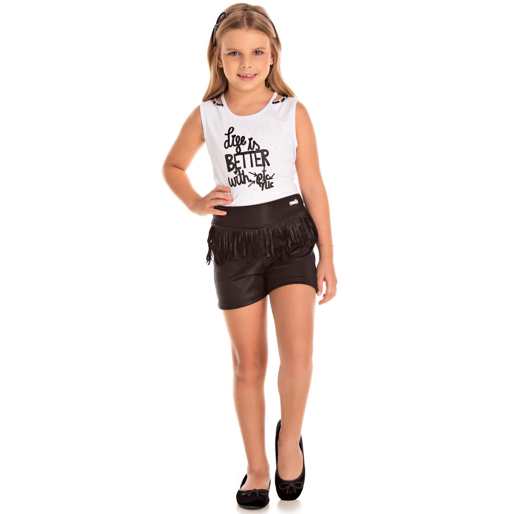Conjunto Infantil Pic Nic Blusa e Short