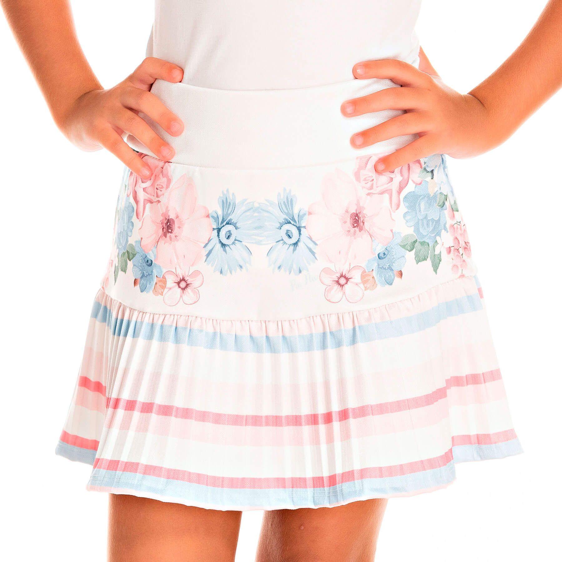 Conjunto Infantil Pic Nic Blusa e Shorts-Saia