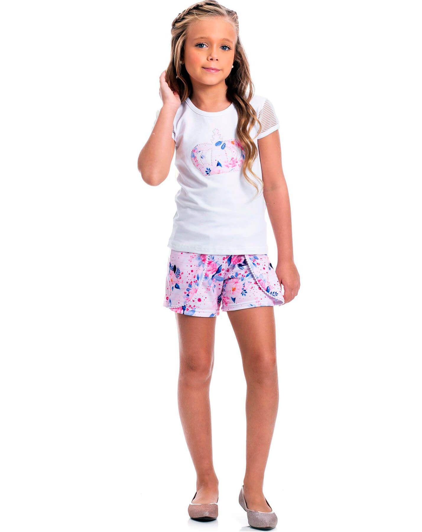 Conjunto infantil Randa Mundu Blusa Short