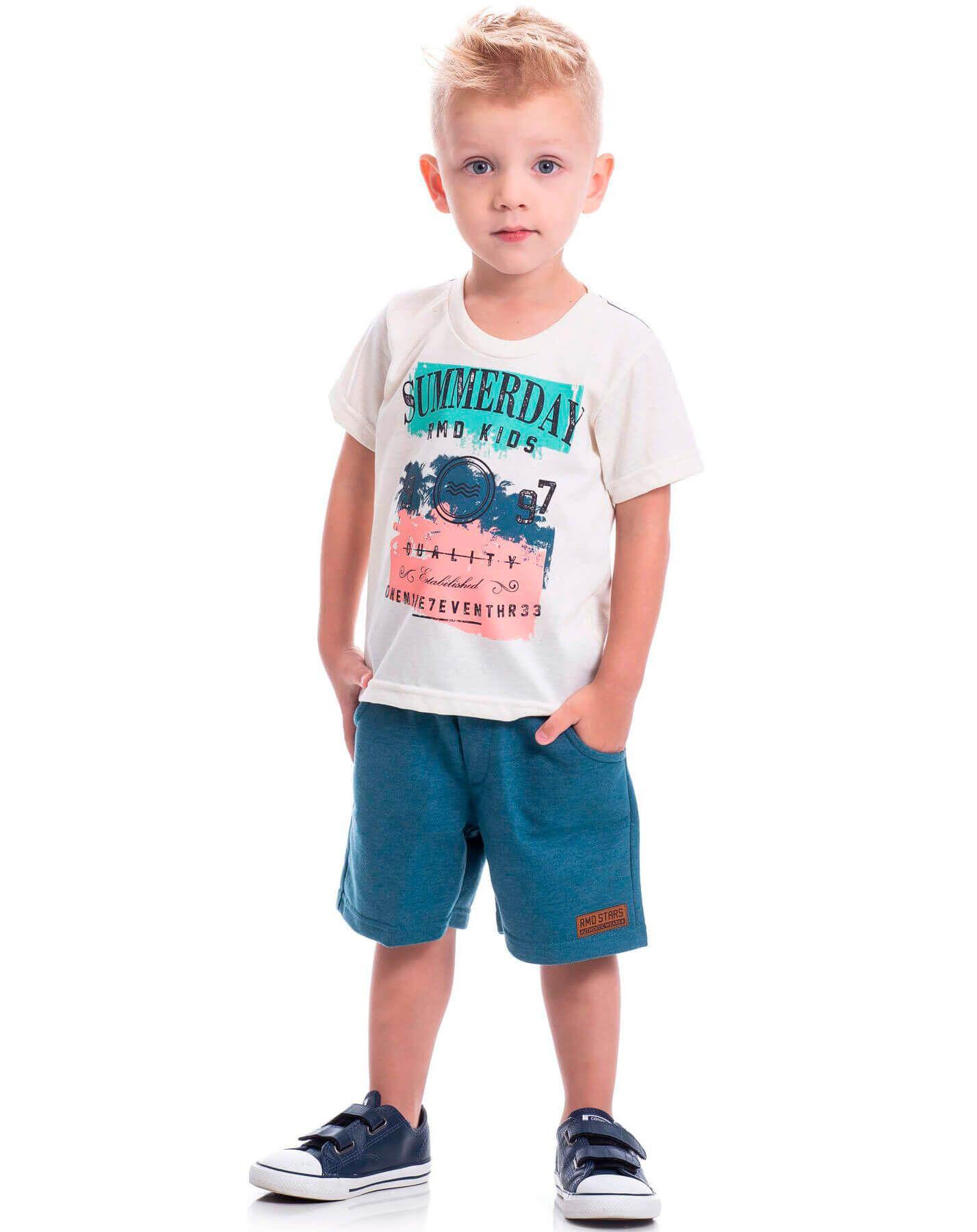 Conjunto Infantil Randa Mundu Camiseta Short