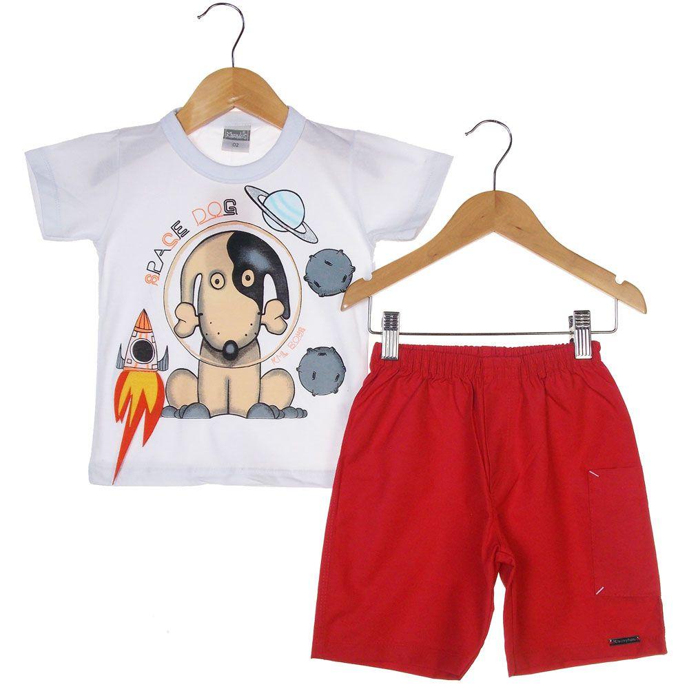 Conjunto Kamylus Dog Blusa Short