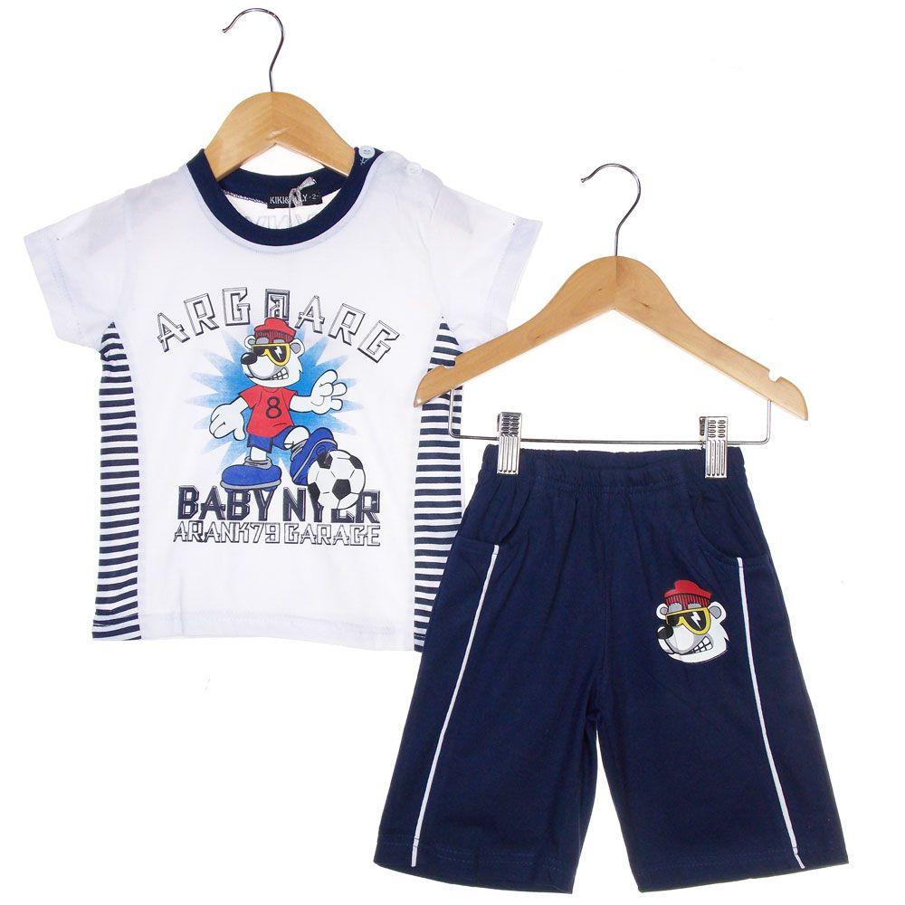 Conjunto Kiki Mily Camiseta Short Urso