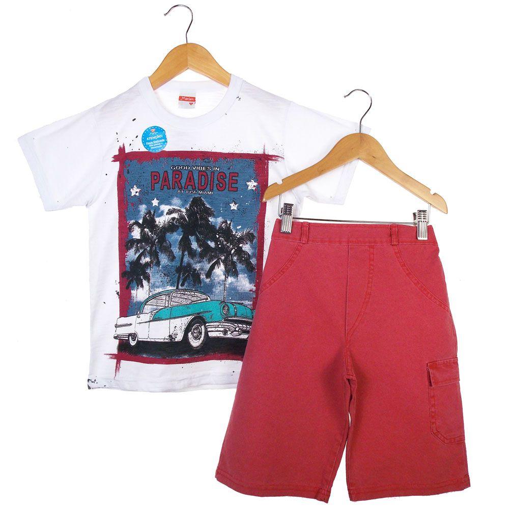 Conjunto Marlan  Camiseta Short Paradise