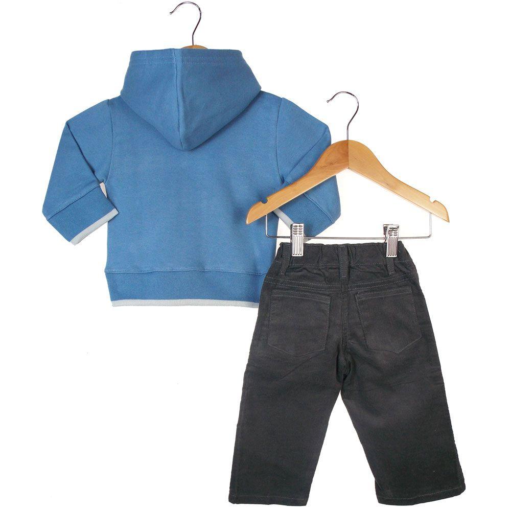 Conjunto Milon Blusa Bordada Calça