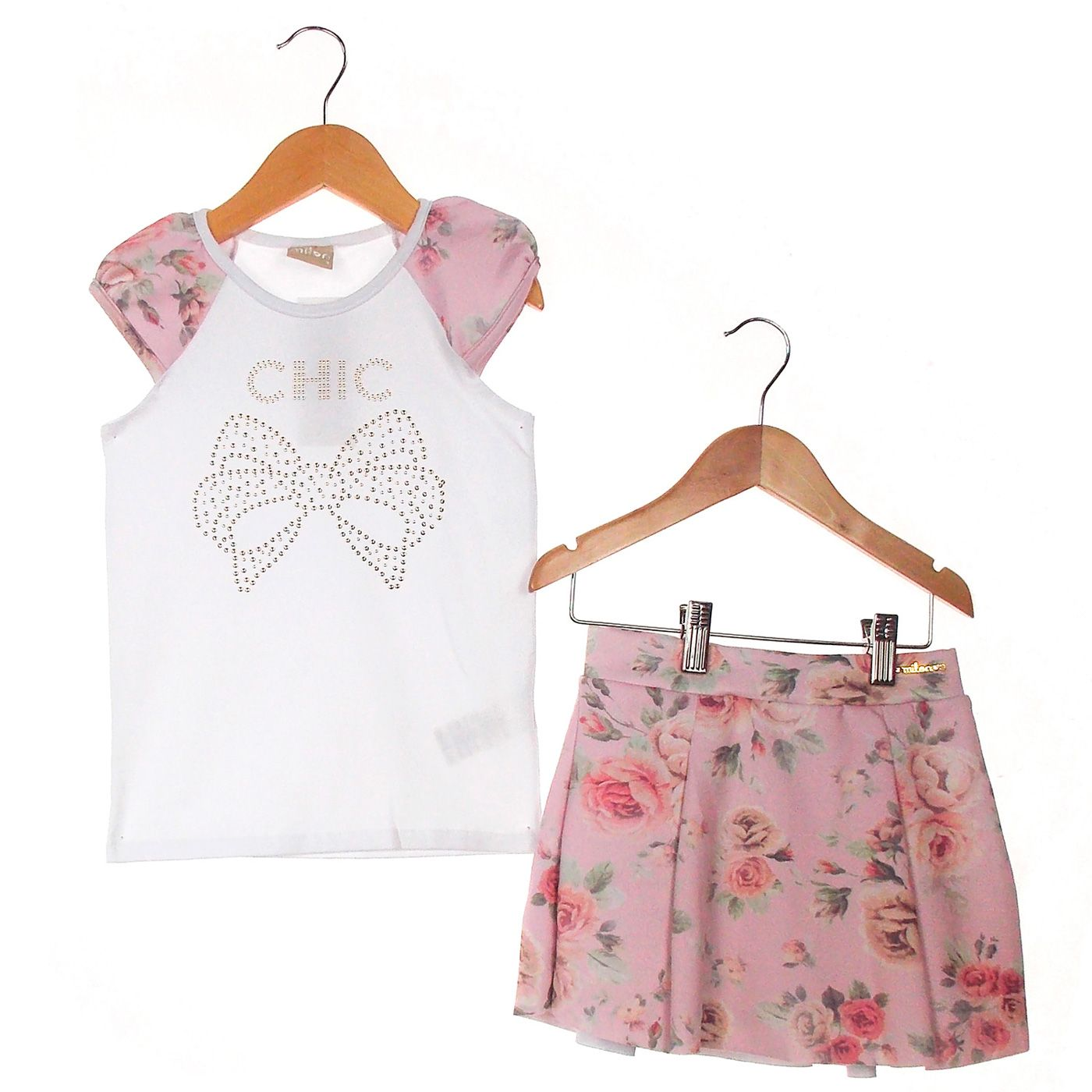Conjunto Milon Curto Menina Floral