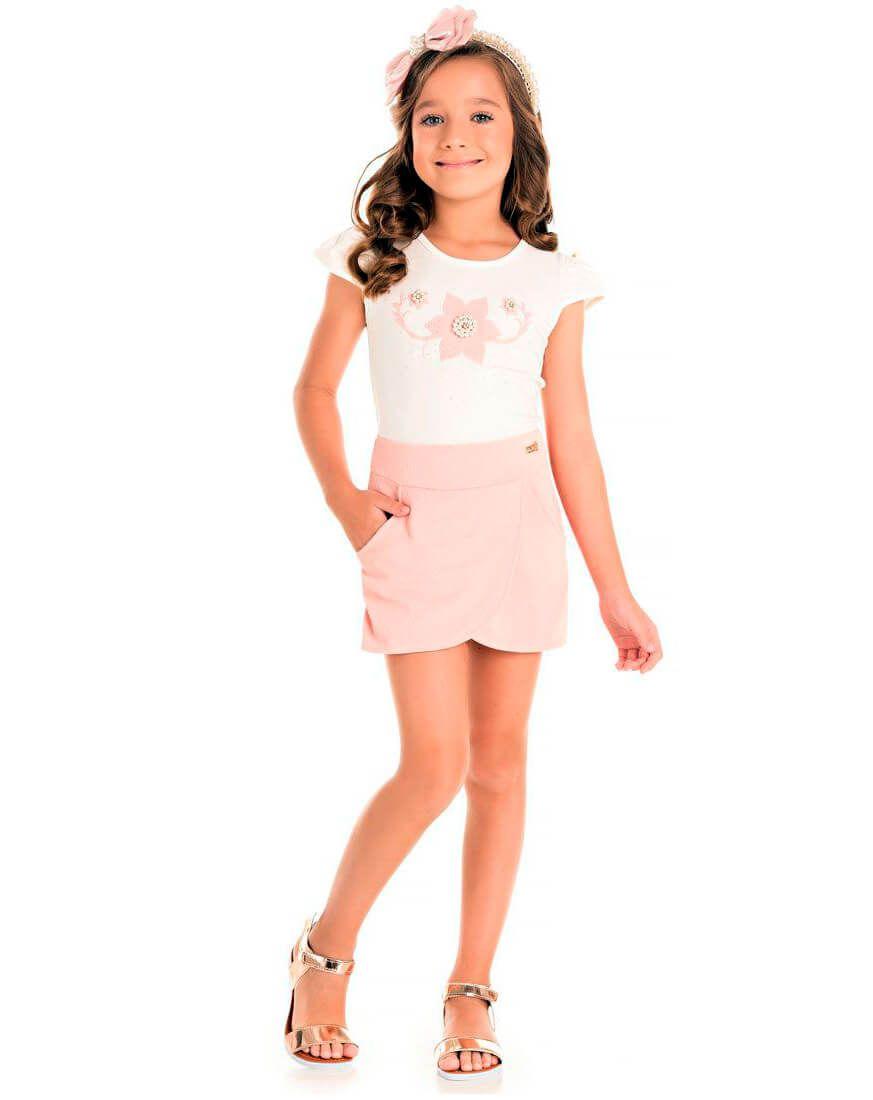 Conjunto Pic Nic Blusa Cotton Short Jacquard