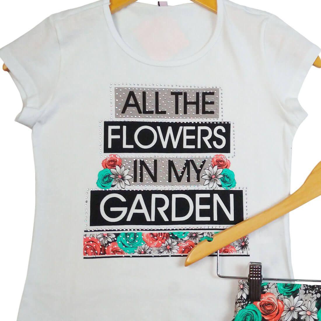 Conjunto Turma da Malha Flowers