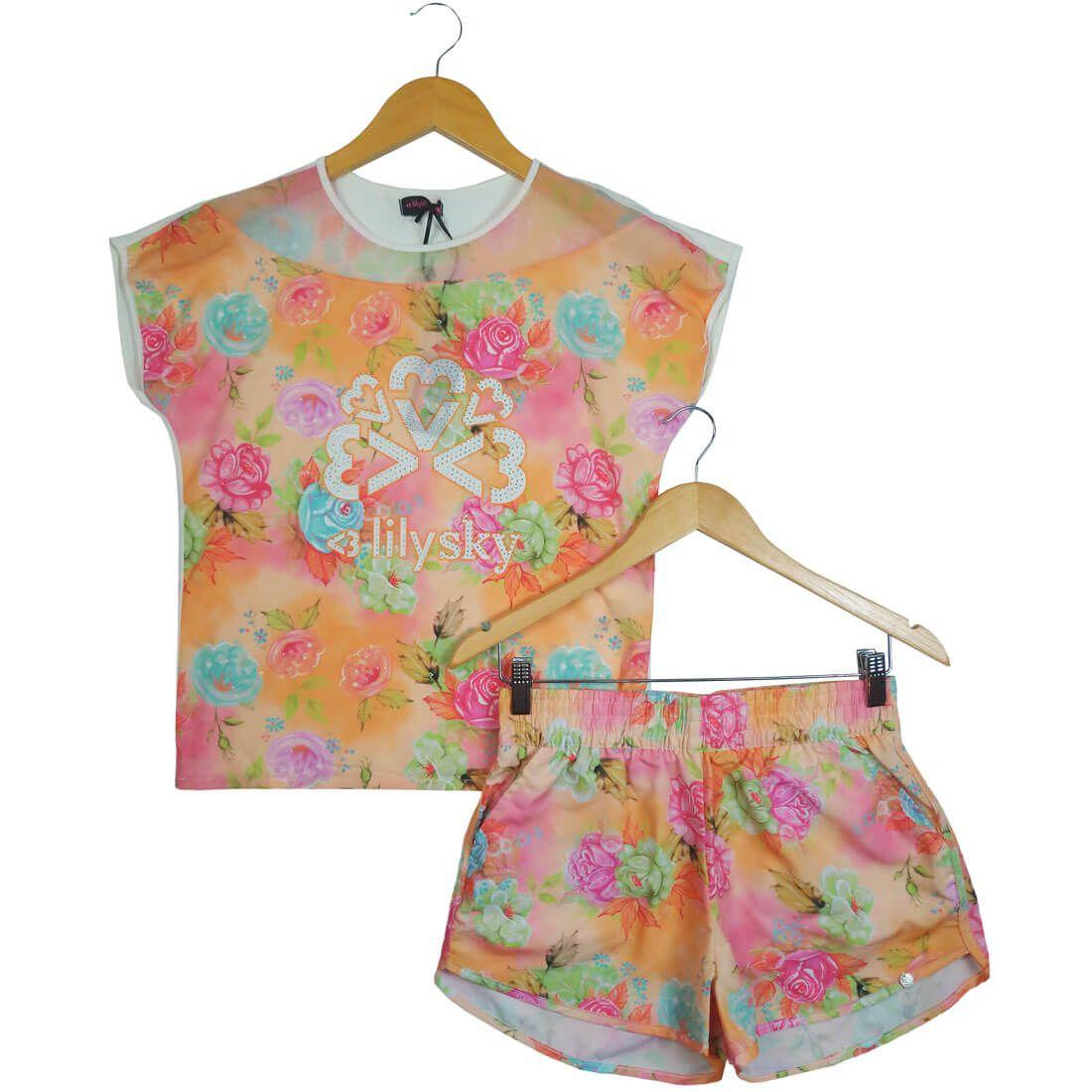 1cbbf49b5 Conjunto Turma da Malha Lilysky Flores - Morebaby Loja Infantil ...