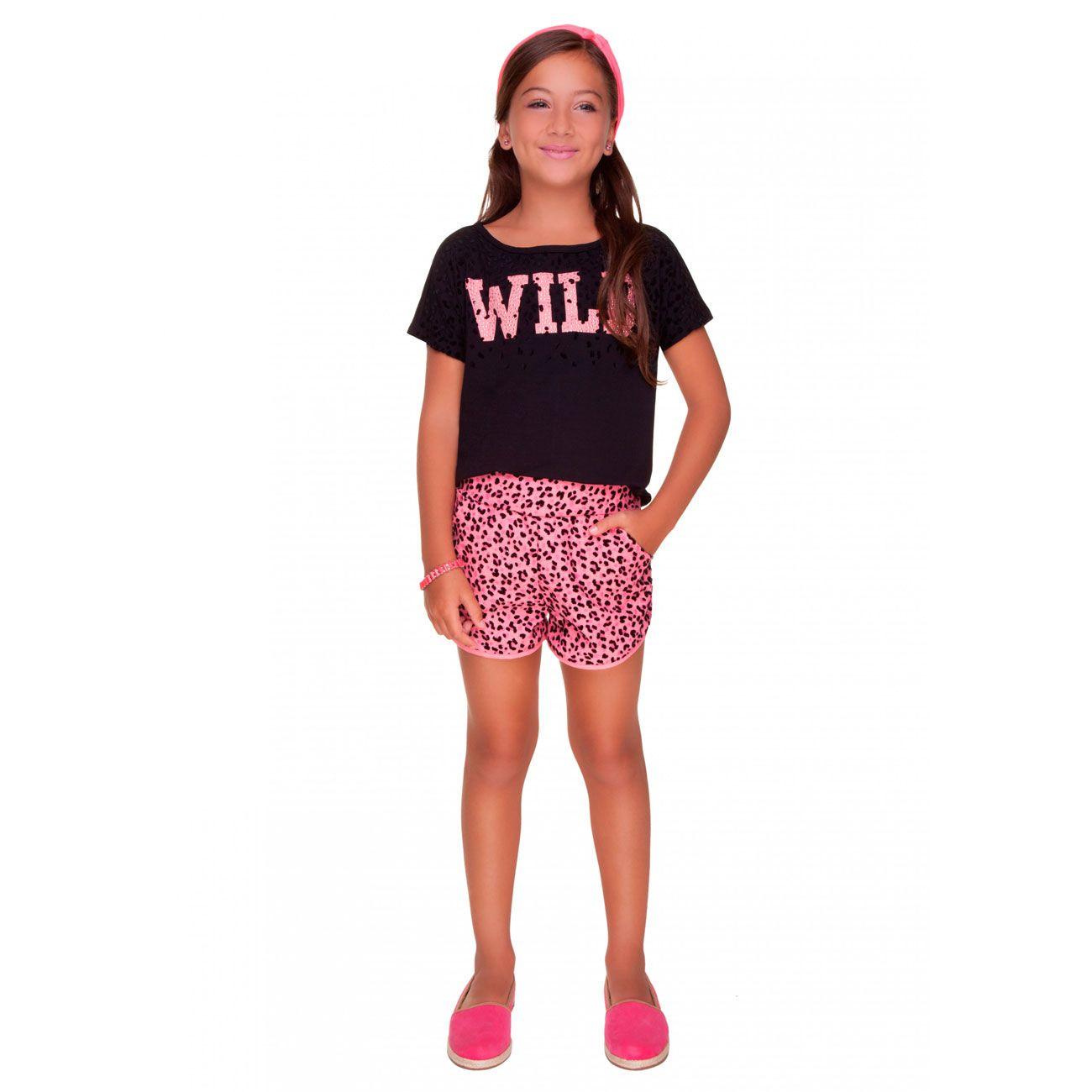 Conjunto  Turma da Malha Miss TRM Wild