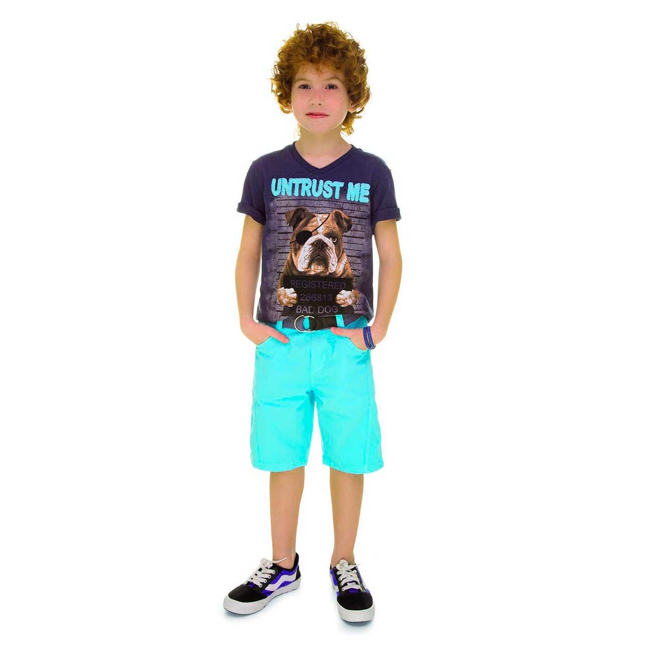 Conjunto Verão Camiseta e Bermuda  Turma da Malha Bros TRM