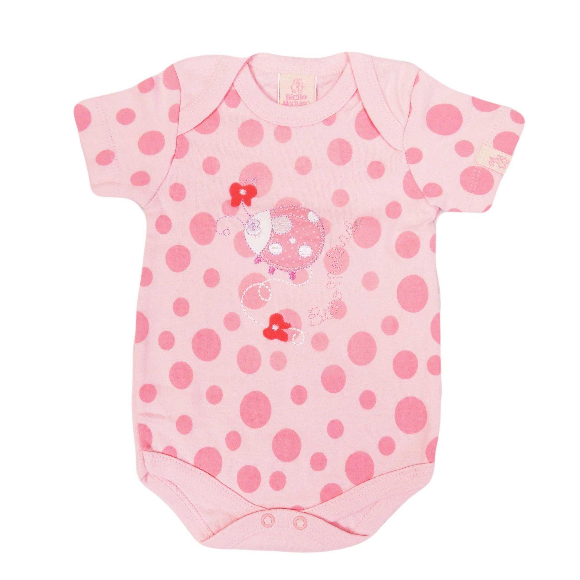 Body Bicho Molhado Bebê Manga Curta