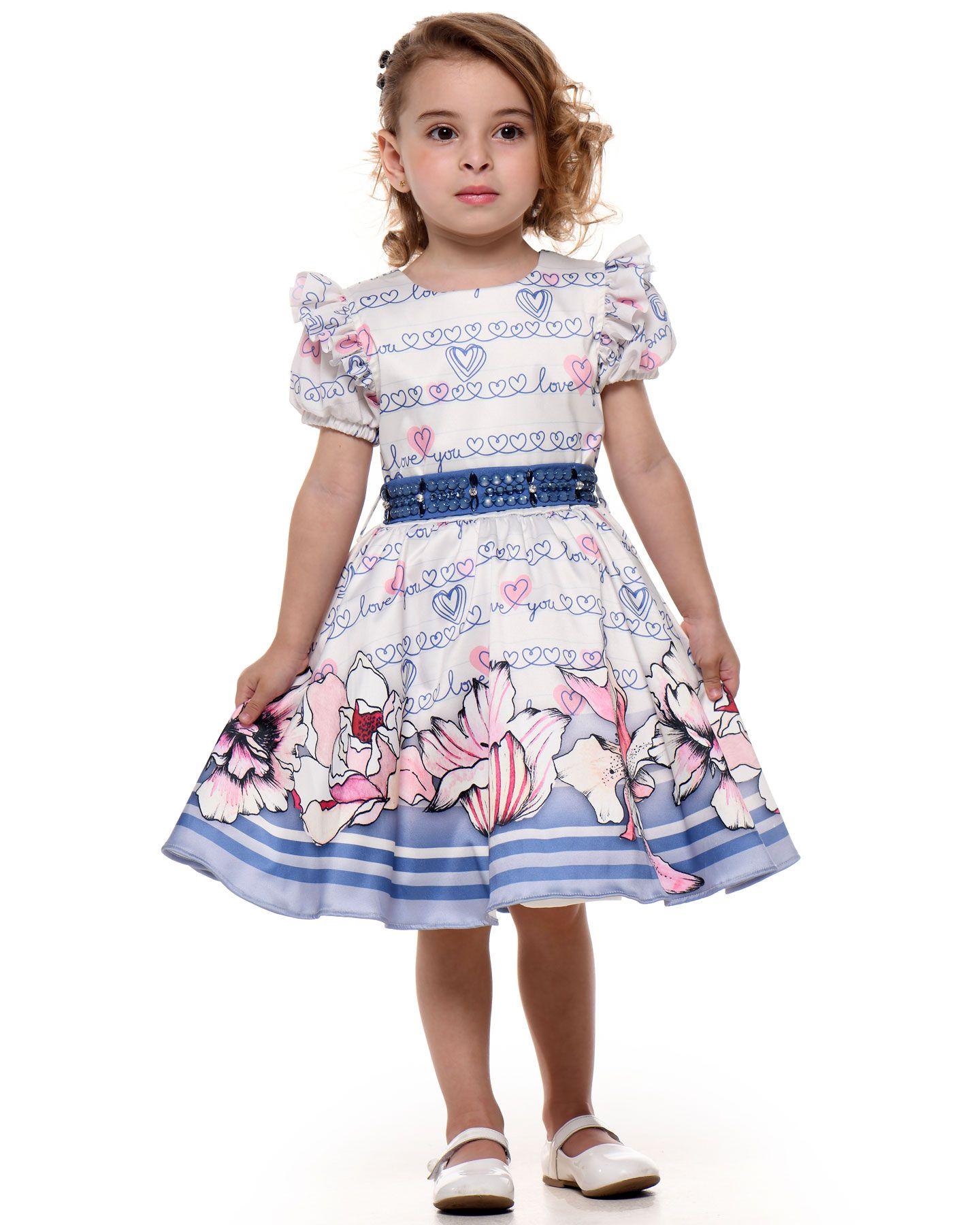 Vestido Festa Infantil Kukixo Floral