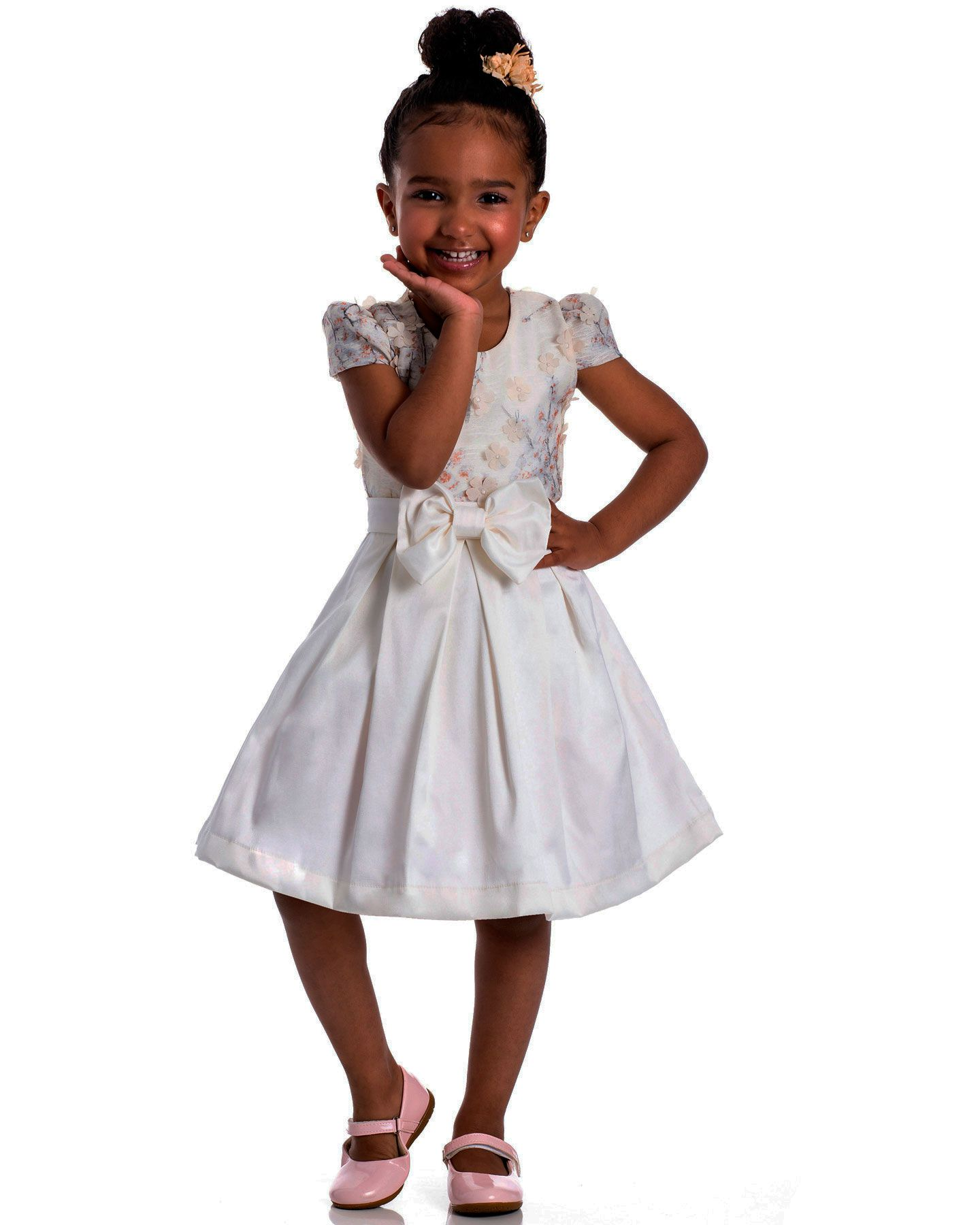 Vestido Festa Infantil Serelepe Cetim