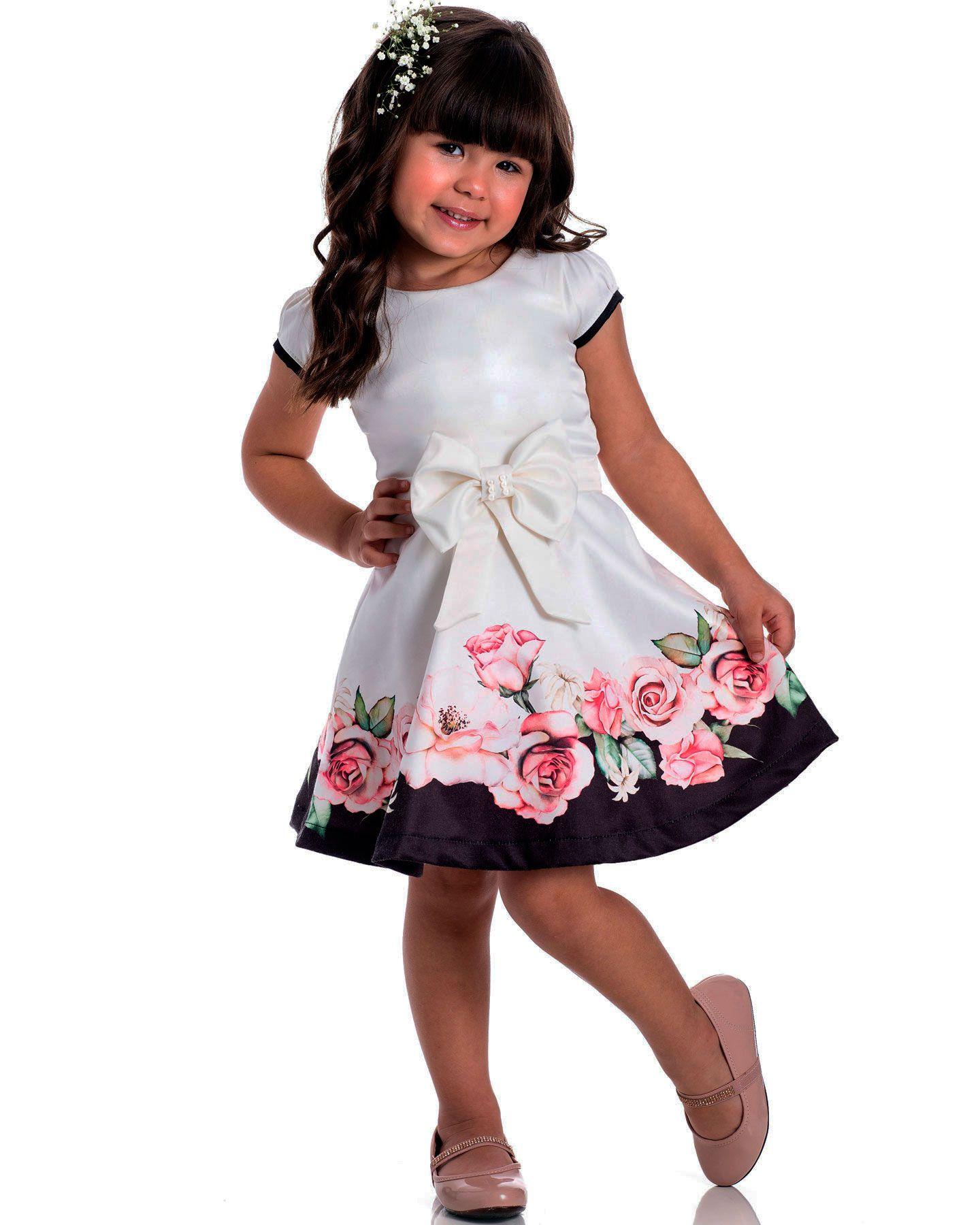 Vestido Festa Infantil Serelepe Listras