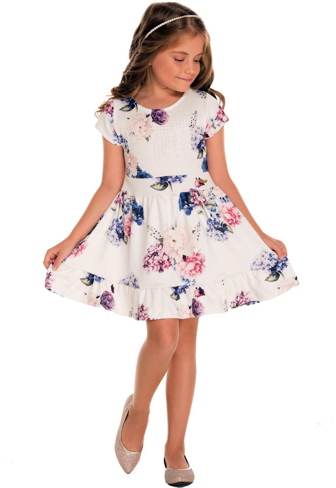 Vestido Infantil Alekids Floral