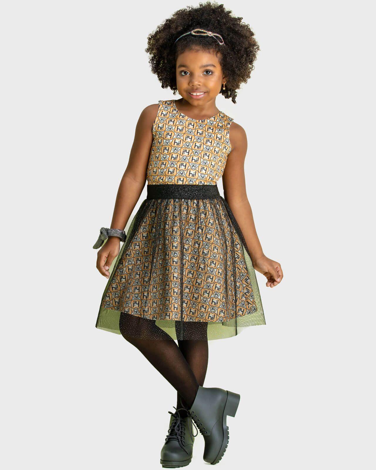 Vestido Infantil Hi Angel Shine