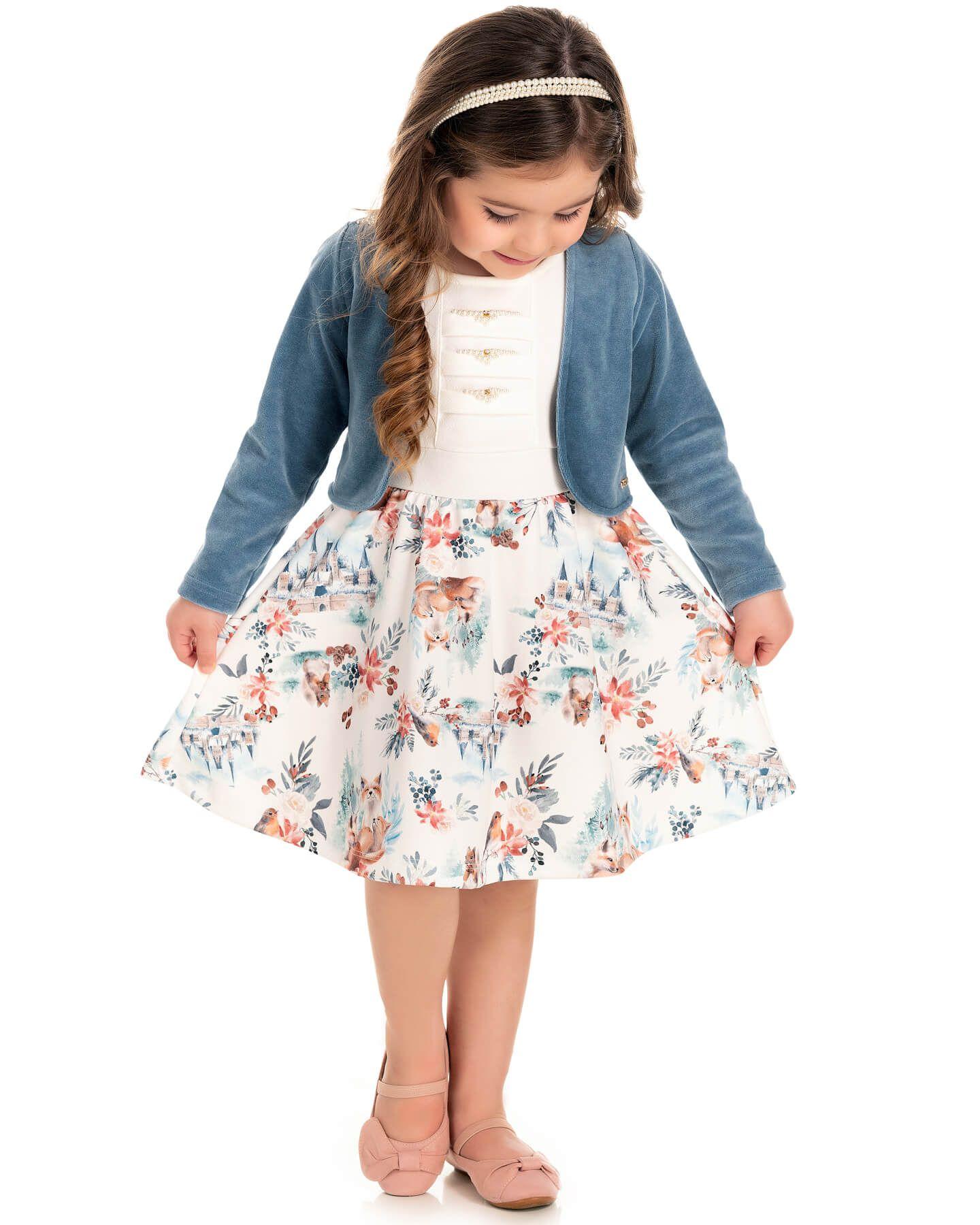 Vestido Infantil Pic Nic Bolero