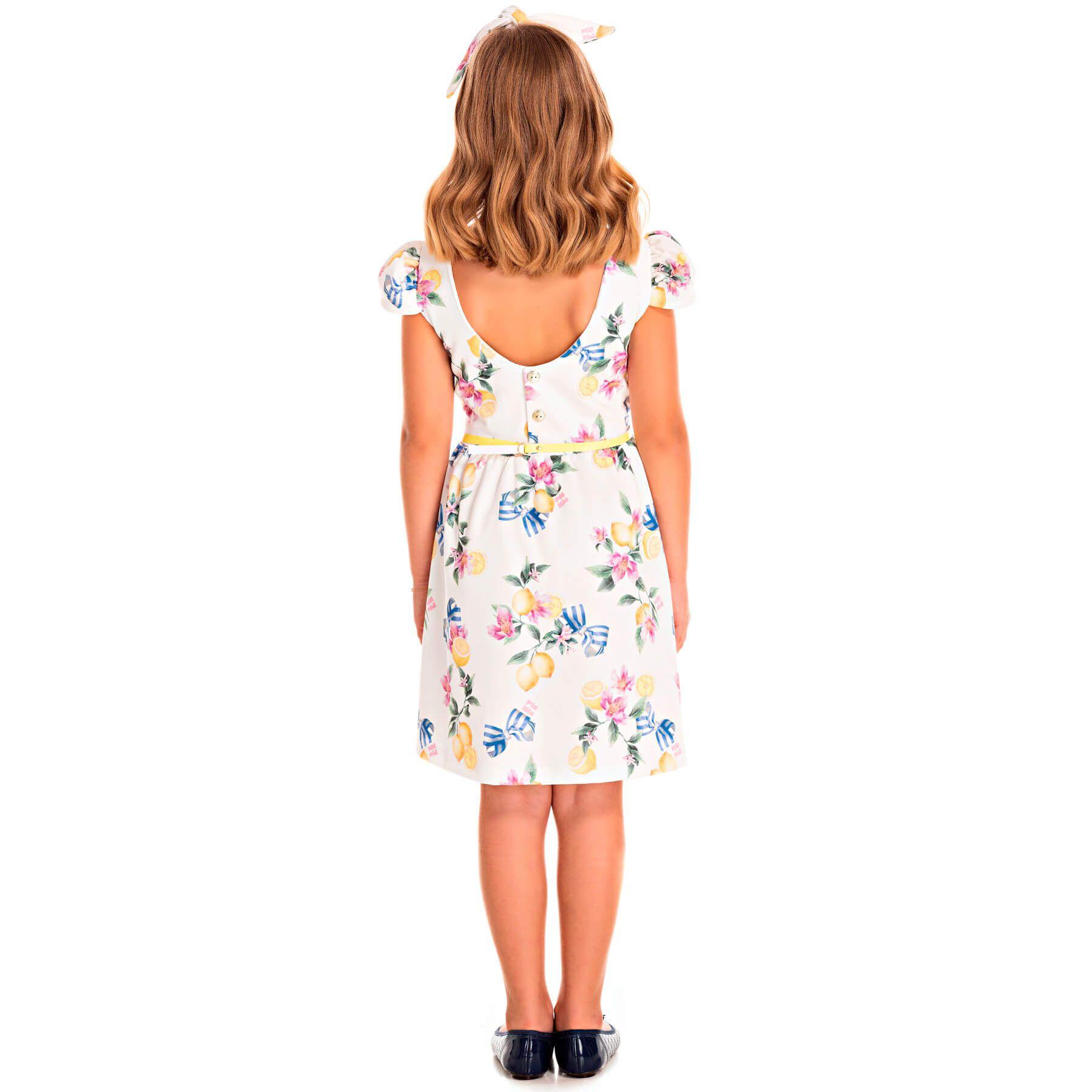 Vestido Infantil Pic Nic em Jacquard