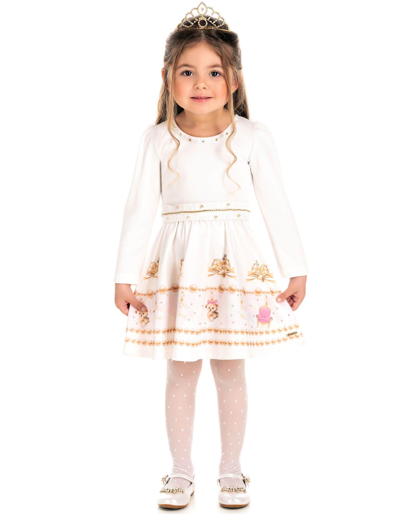 Vestido Infantil Pic Nic Pedraria