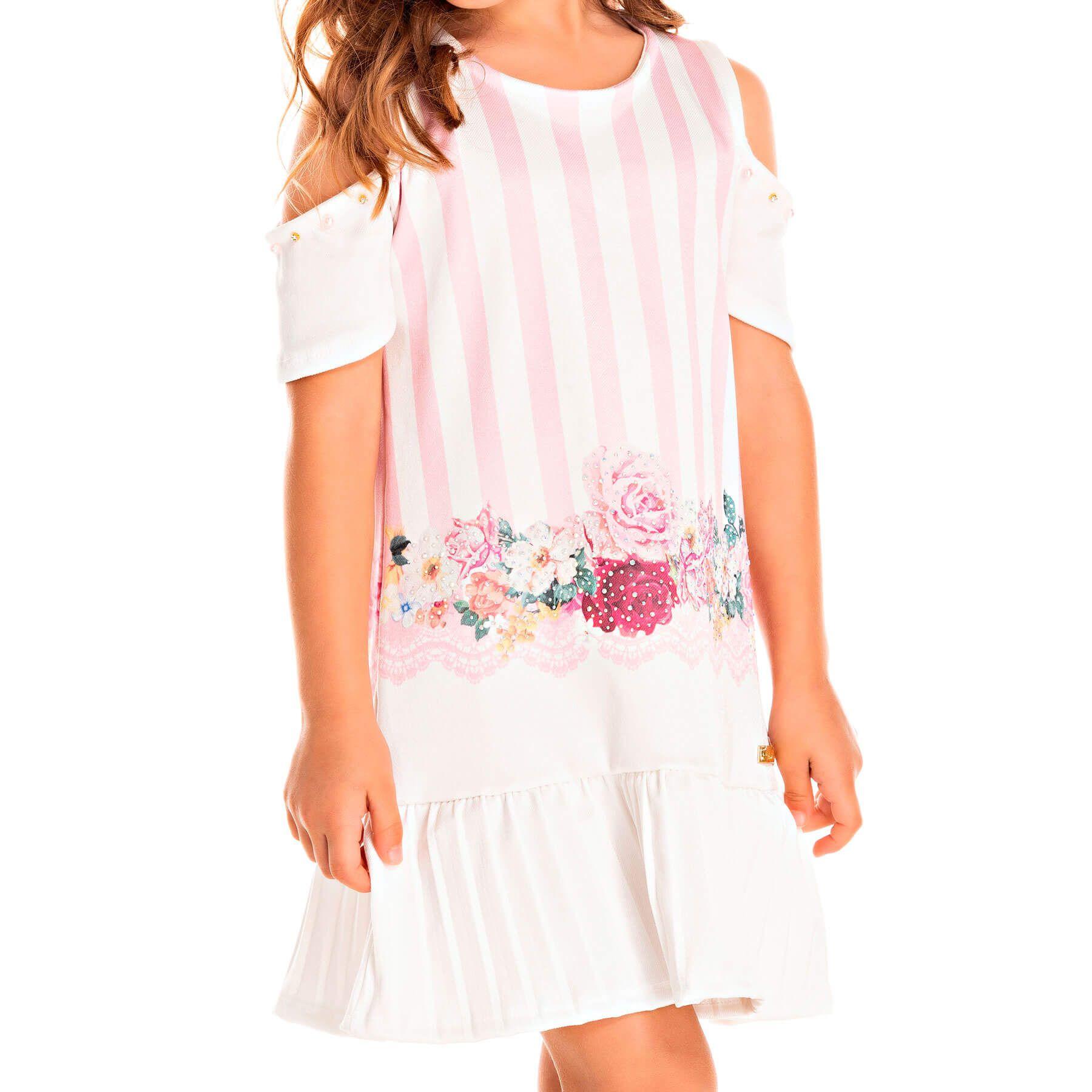 Vestido Infantil Pic Nic Poly Acetinado