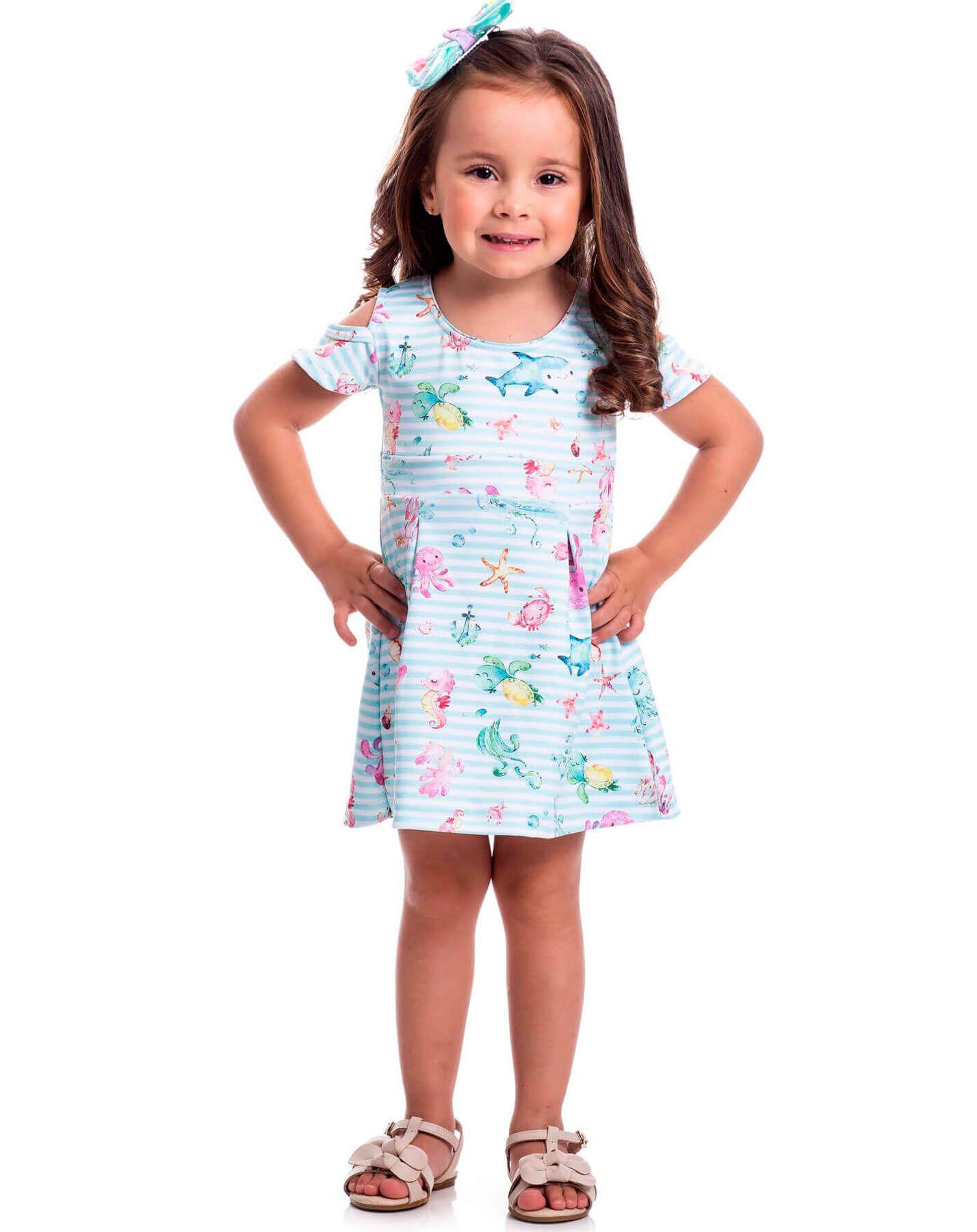 Vestido Infantil Randa Mundu Neoprene
