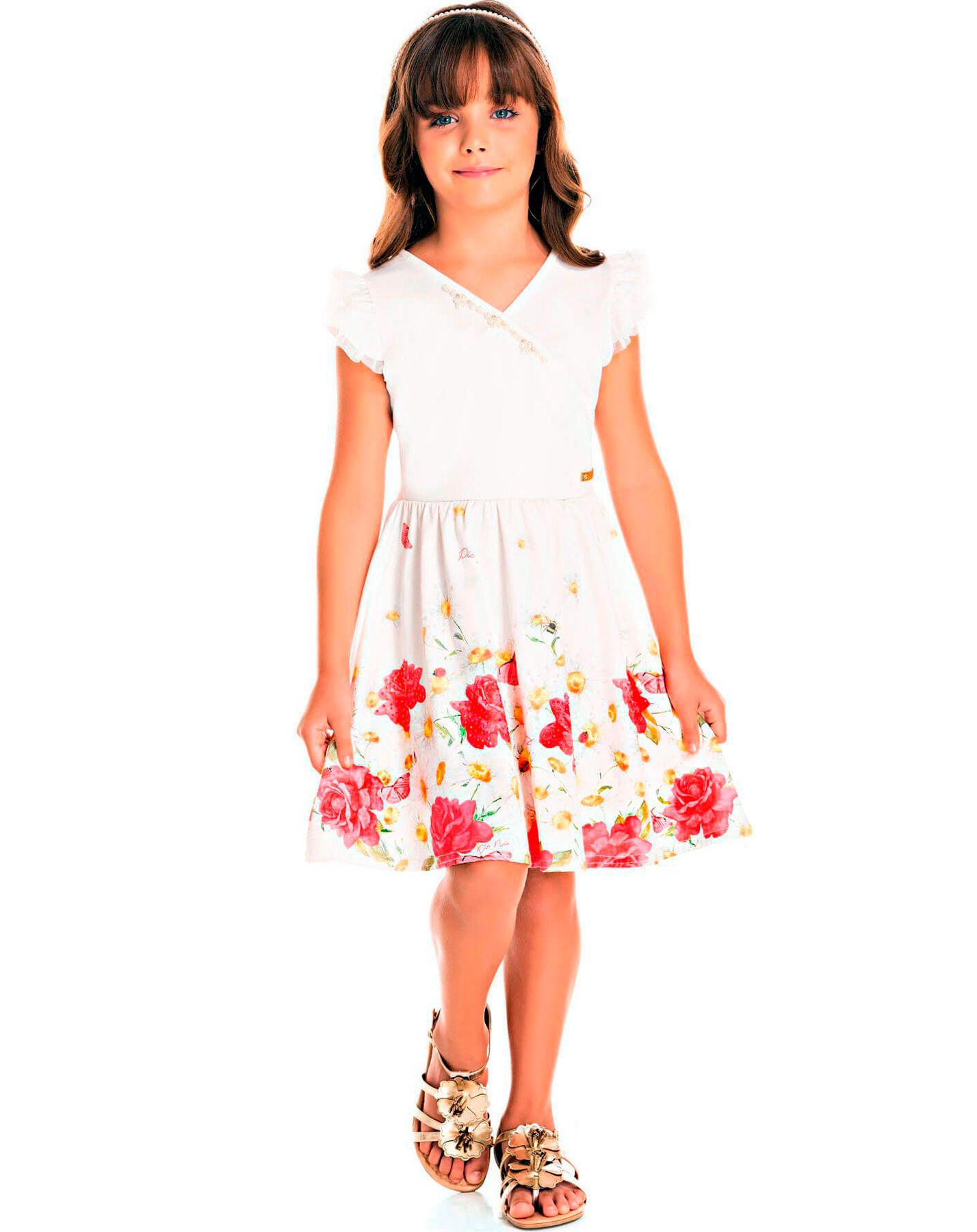 Vestido Pic Nic Infantil em Jacquard