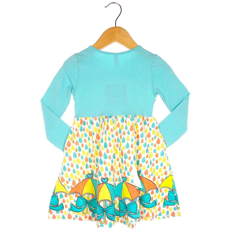 Vestido Turma da Malha Manga Longa Menina
