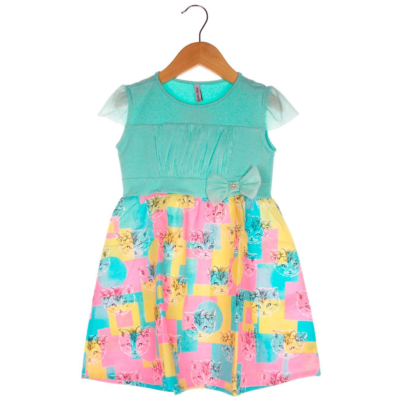 Vestido Turma da Malha Miss TRM Curto Gatinho