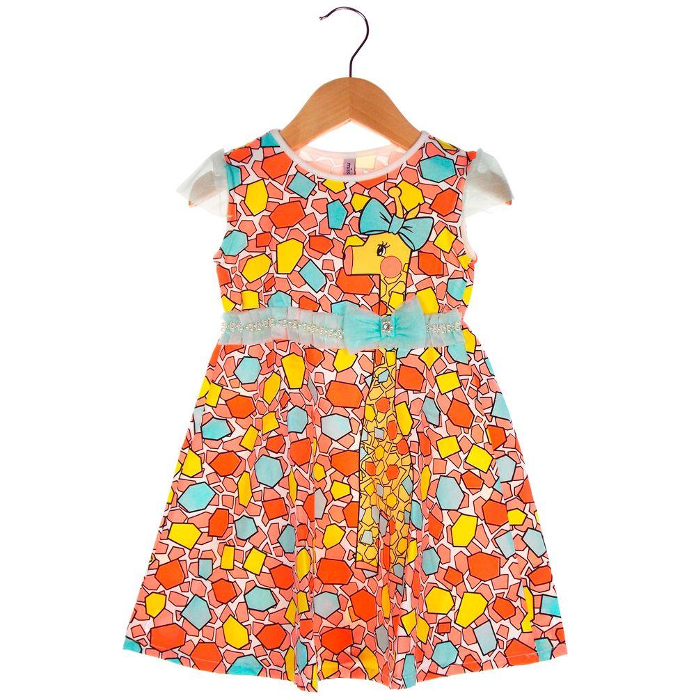 Vestido Turma da Malha Miss TRM Girafinha