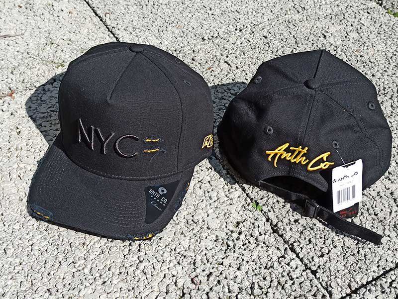 Boné NYC Destroyed Preto com Amarelo