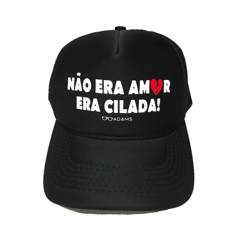 Boné trucker personalizado Rodrigo Adams - Não era amor era cilada