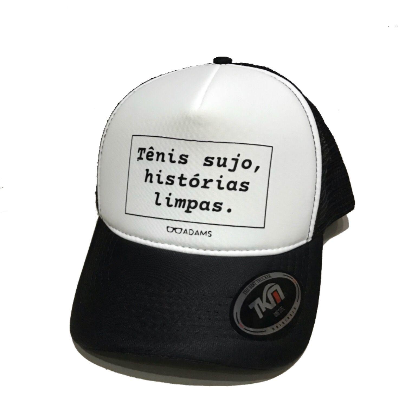 Boné trucker personalizado Rodrigo Adams - Tênis sujo, histórias limpas