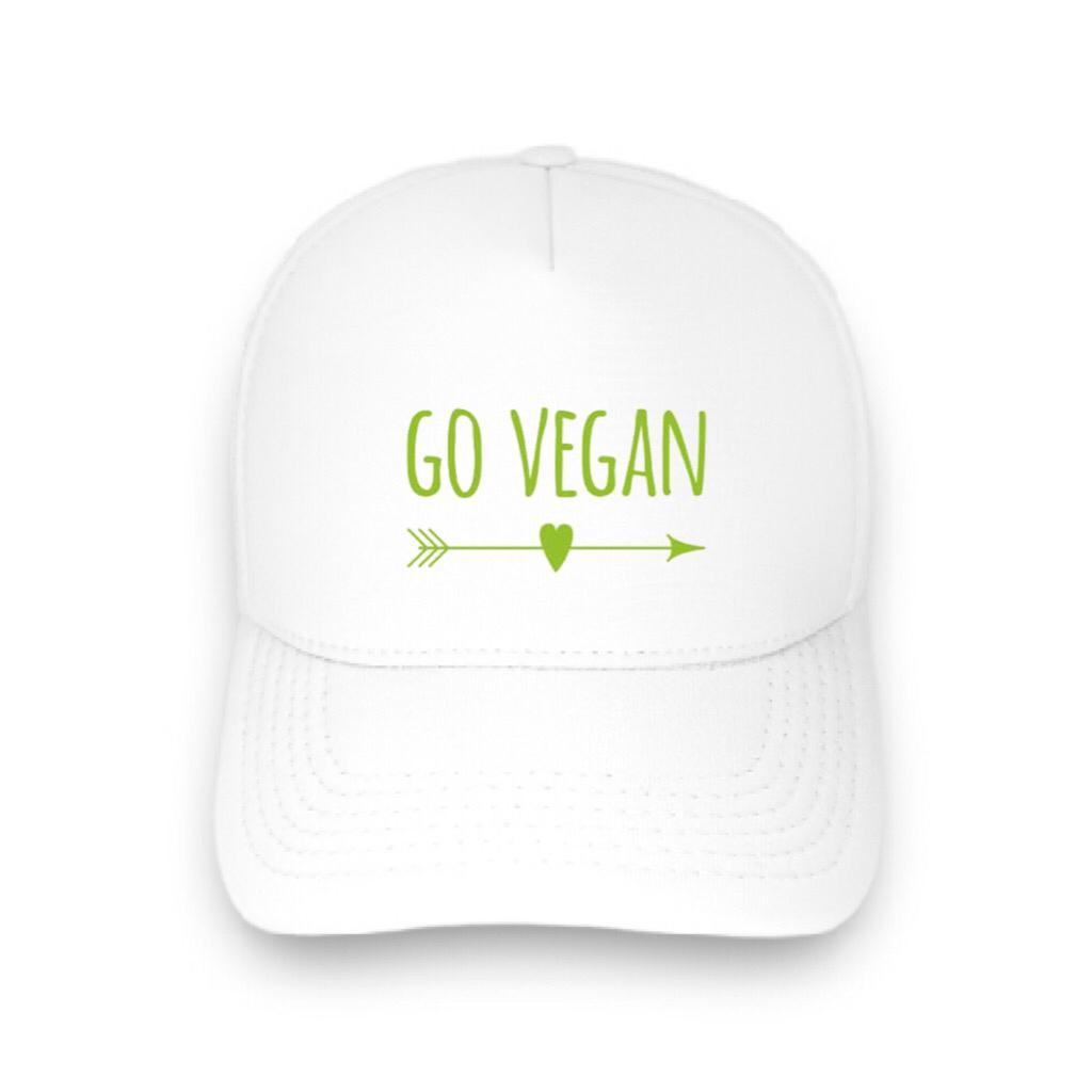 Boné trucker personalizado - Go Vegan 1