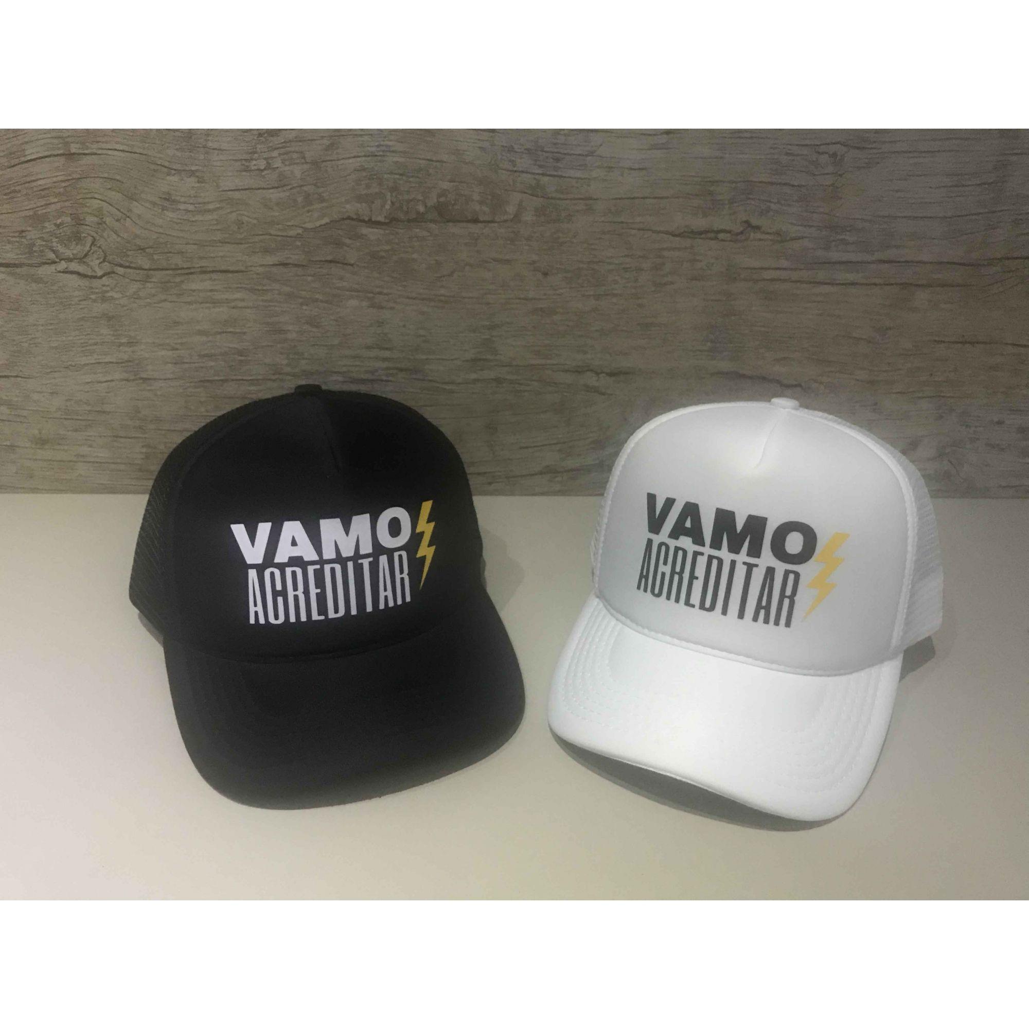 Boné trucker personalizado - Vamo acreditar