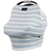 Capa Multifuncional Encantado (Listras Azul Bebê/Branco) - Penka & Co.