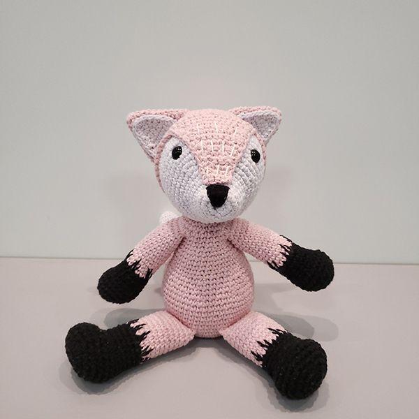 Amigurumi Crochê Raposa Rosa