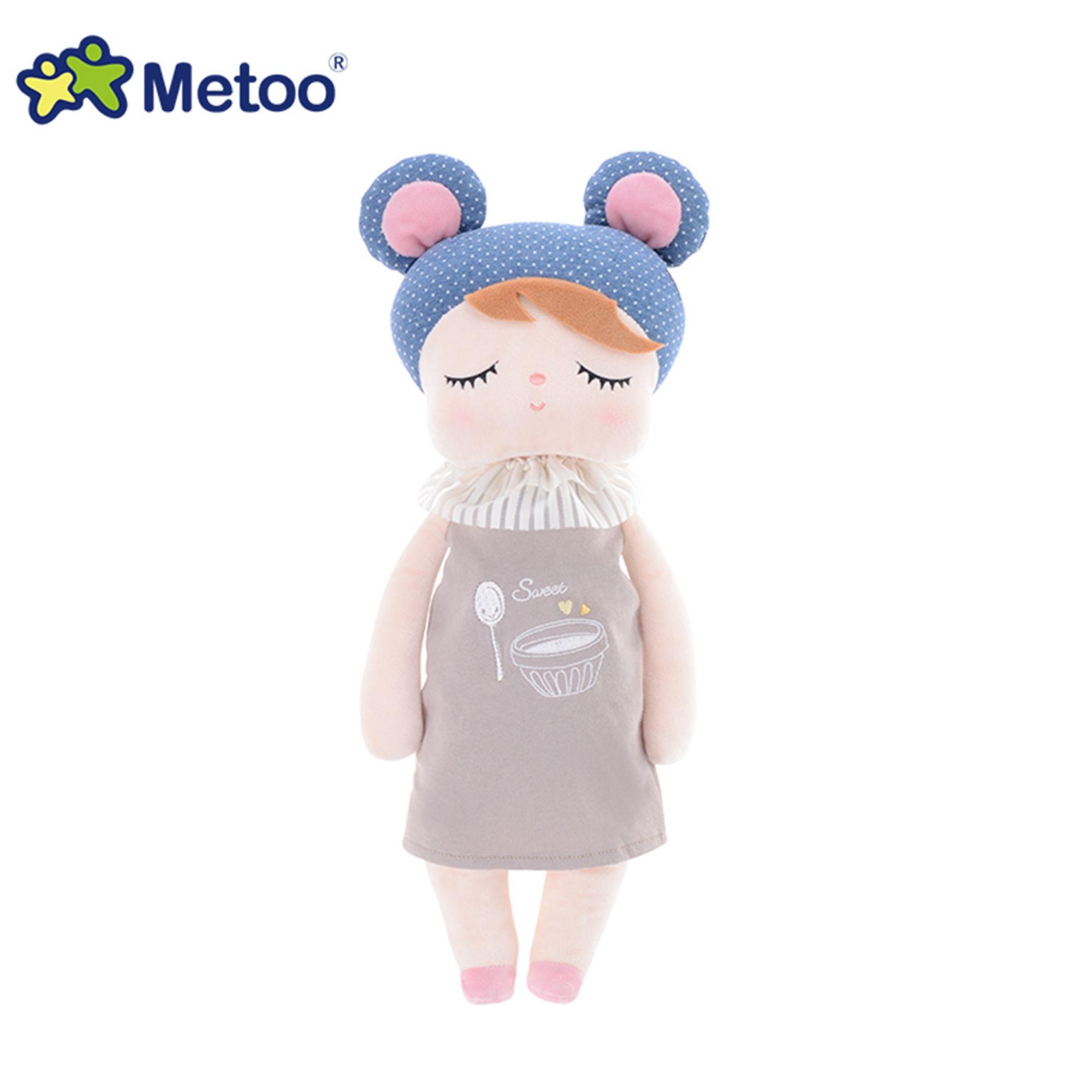 Boneca Metoo Angela - Doceira Retro Urso Azul - 33cm