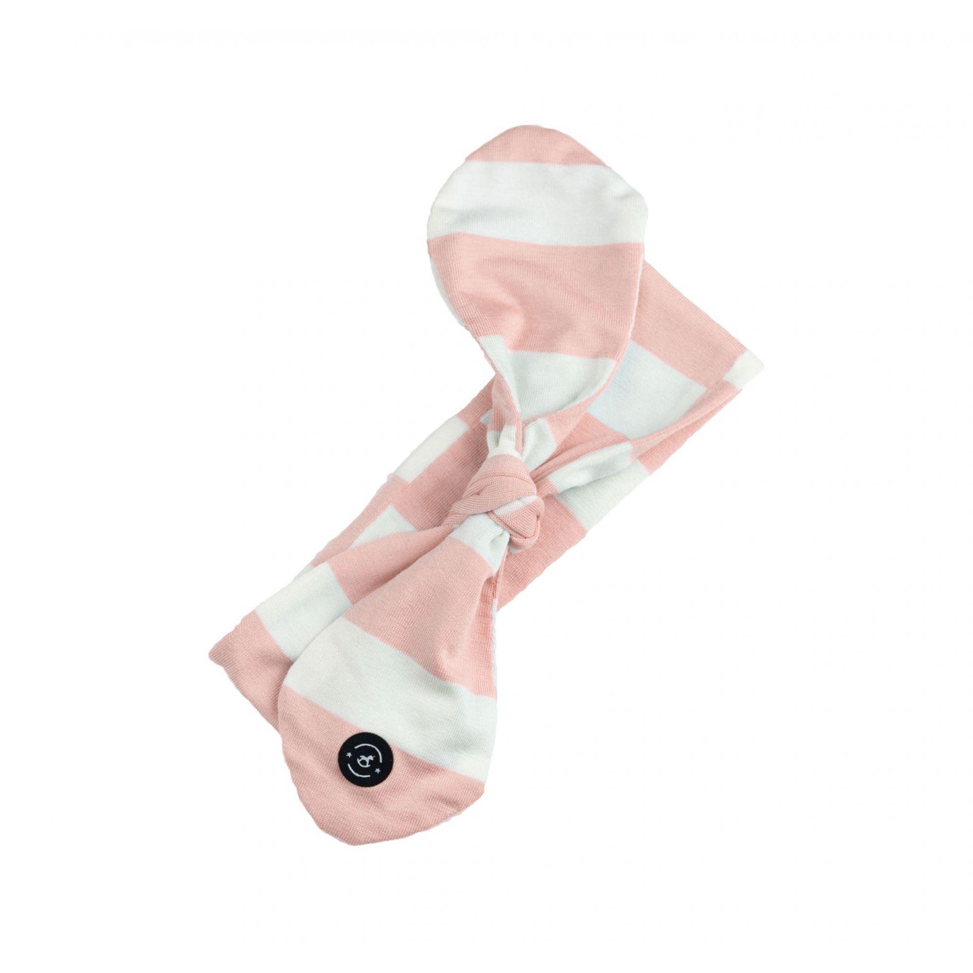 Faixa Knot Aurora (Listras - Rosa Bebê/Branco) - Penka & Co.