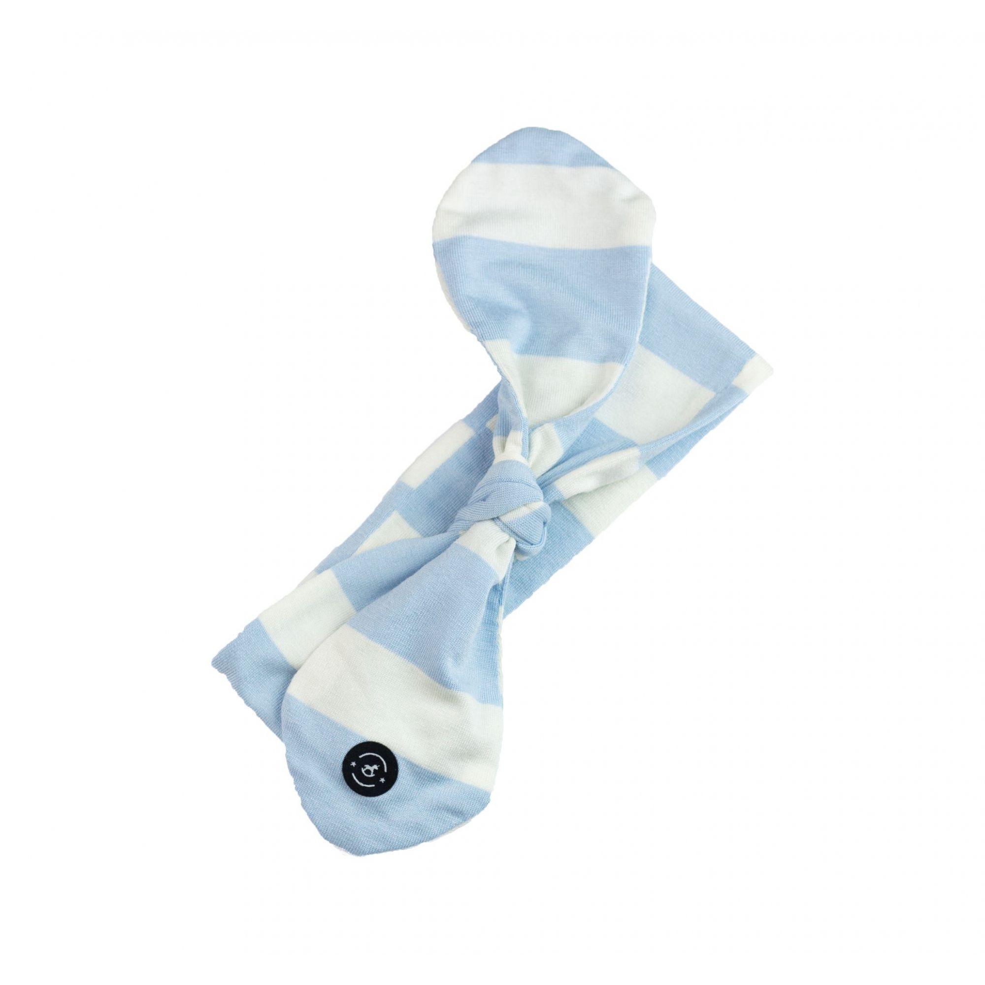 Faixa Knot Encantado (Listras - Azul Bebê/Branco) - Penka & Co.