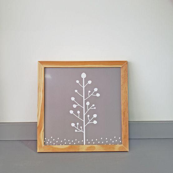Quadrinho Infantil Árvore 28X28cm - Ella Baby Decor Collection